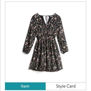 Stitch Fix Collective Concepts Floral Dress Black